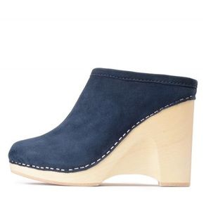 Jeffrey Campbell Skagen Suede Wedges, Navy, 8M